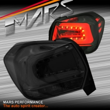 JDM Smoked Black LED Tail Lights for Subaru XV G4-X 12-15 Hatch
