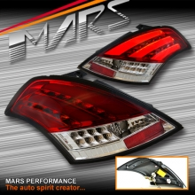 Clear Red LED Tail lights with LED indicators for Suzuki Swift Hatch 11-17