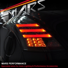 Full Smoked LED 3D Stripe Tail lights with LED indicators for Suzuki Swift Sport 11-17
