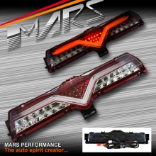 VALENTI JDM Clear Red Full LED Reverse Tail lights for Toyota 86 GT GTS & Subaru BRZ