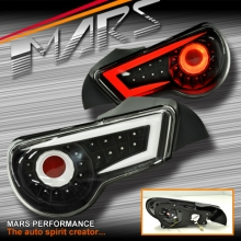 Crystal-Eye JDM Black Full LED Tail lights for Toyota 86 GT GTS & Subaru BRZ