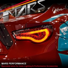 Black Full LED 3D Stripe Bar Tail lights with Dynamic Indicators for Toyota 86 GT GTS & Subaru BRZ