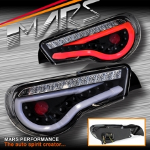 Black Full LED Tail lights for Toyota 86 GT GTS & Subaru BRZ Coupe