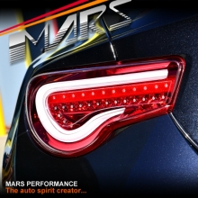 VALENTI JDM Clear Red Full LED 3D Stripe Bar Tail lights with Dynamic Indicators for Toyota 86 GT GTS & Subaru BRZ