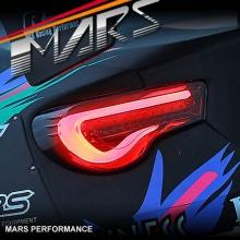 VALENTI Smoked Full LED 3D Stripe Bar Tail lights for Toyota 86 GT GTS & Subaru BRZ
