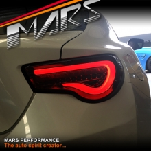 VALENTI Smoked Full LED 3D Stripe Bar Tail lights with Dynamic Indicators for Toyota 86 GT GTS & Subaru BRZ