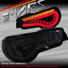 Smoked Full LED 3D Stripe Bar Tail lights with Dynamic Indicators for Toyota 86 GT GTS & Subaru BRZ