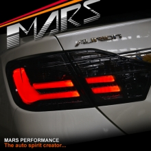 Smoked Black 3D Stripe Bar LED Tail lights for Toyota Aurion Sedan 12-17 GSV50R