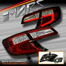 Clear Red 3D Stripe Bar Tail lights with LED Indicators for Toyota Camry Sedan 12-15