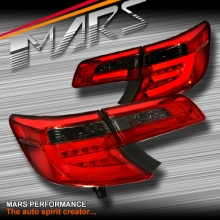 Smoked Red LED Tail lights for Toyota Camry Sedan 12-15