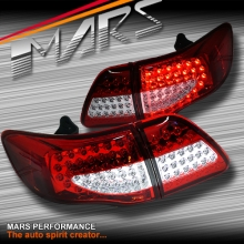 Clear Red LED Tail lights for Toyota Corolla 07-10 Sedan
