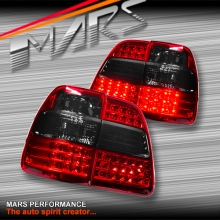MARS Smoked Red LED Tail Lights for TOYOTA LANDCRUISER FJ100 98-07