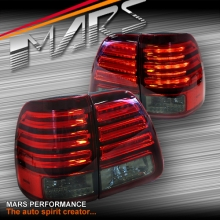Smoked Red LED Tail Lights for TOYOTA LANDCRUISER FJ100 98-07
