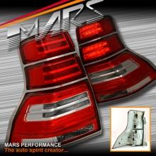 Clear Red LED Tail Lights for TOYOTA LANDCRUISER Prado 09-13 KS