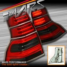 Smoked Red LED Tail Lights for TOYOTA LANDCRUISER Prado 09-13 KS