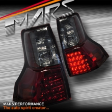 Smoked Red LED Tail Lights for TOYOTA LANDCRUISER Prado 09-13 Pre Update