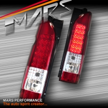 Clear Red LED Tail lights for Toyota Hiace VAN 05-17