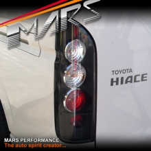 JDM Black Altezza Tail lights for Toyota Hiace VAN 05-17