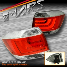 Clear Red 3D LED Stripe Tail lights for Toyota HighLander Kluger 11-13, GSU40R GSU45R.