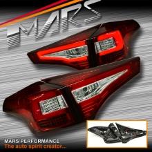 Clear Red 3D Stripe Bar LED Tail lights for Toyota RAV4 13-15