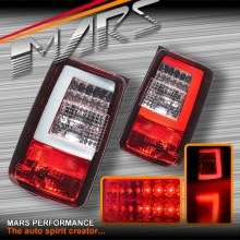 Clear Red 3D LED Stripe Tail lights for Volkswagen VW CADDY 05-15