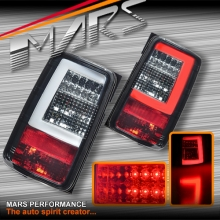 Full Smoked 3D LED Stripe Tail lights for Volkswagen VW CADDY 05-15