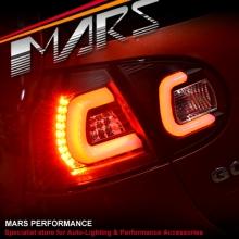 Black 3D Full LED Tail lights for VolksWagen VW Golf V Hatch MK-5 03-08