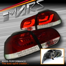 Clear Red R Style 3D LED Tail lights for Volkswagen VW Golf VI 6 09-13 SN