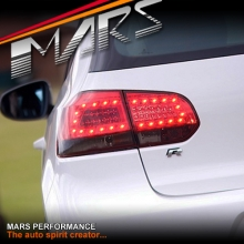 Smoked Red LED Tail lights for Volkswagen VW Golf VI 6 09-13 KS
