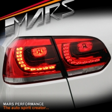 Clear Red R20 Style LED Tail lights for Volkswagen VW Golf VI 6 09-13