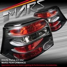 Black Altezza Tail lights for VolksWagen VW Golf IV 98-03