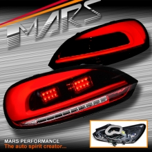 Red Clear 3D LED Bar Tail lights with LED Indicators for VW Volkswagen SCIROCCO 1S MY08-MY14