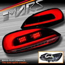 Red Smoked 3D LED Bar Tail lights with LED Indicators for VW Volkswagen SCIROCCO 1S MY08-MY14