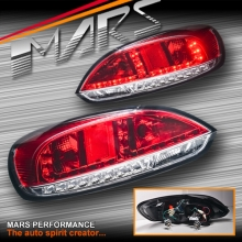 Clear Red LED Tail lights with LED Indicators for VW Volkswagen SCIROCCO 1S MY08-MY14