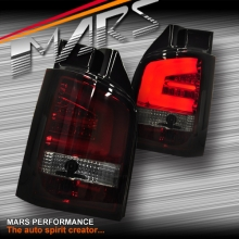 Smoked Red LED Tail lights for Volkswagen VW Transporter T5 04-15 with LED Indicators