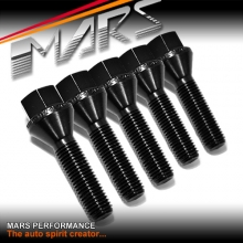 Black Mars Performance wheels M12 x 1.5 38mm extended long Bolts Set (5 pcs) for spacers