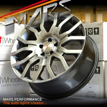 MARS MP725 5x114.3 20 inch Hyper Black Alloy Wheels Rims for Ford and almost Japan Cars