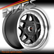 MARS MP-30 4 x 16 Inch Stag Matt Dark Gunmetal with Silver Deep Dish Alloy Wheels Rims 4x100 or 4x114.3