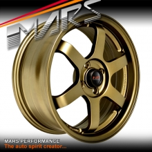 MARS MP-37 4 x 16 Inch Matt Bronze Alloy Wheels Rims MP37 4 x 100