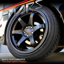 MARS MP-37 18 inch 18x9 & 18x10 Matt Black JDM Stag Alloy Wheels Rims 5 x 114.3
