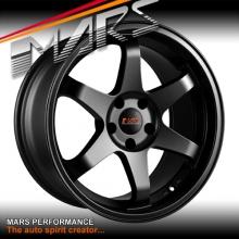MARS MP-37 18 Inch Matt Black JDM Stag Alloy Wheels Rims 5 x 120