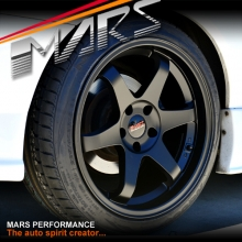 MARS MP-37 18 inch JDM Stag Matt Black Alloy Wheels Rims 5 x 114.3