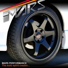 MARS MP-37 18 inch JDM Stag Matt Black Alloy Wheels Rims 5 x 114.3