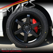 MARS MP-37 18 Inch Matt Black JDM Stag Alloy Wheels Rims 5x100