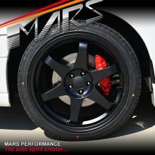 MARS MP-37 18 Inch Matt Black JDM Stag Alloy Wheels Rims 5 x 100