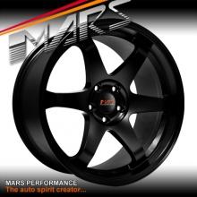MARS MP-37 4x19 inch JDM Matt Black Stag Alloy Wheels Rims 5 x 120 for BMW & Commodore
