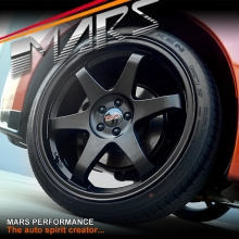 MARS MP-37 4 x 19 JDM Matt Black Stag Alloy Wheels Rims 5 x 100