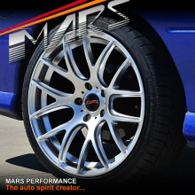 MARS MP-JL Hyper Silver 19x9.5 Inch ET35 Concave Alloy Wheels Rims 5x120 for Commodore