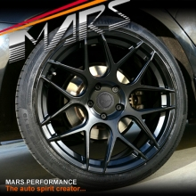 MARS MP-JW Matt Black 4x 19 Inch Concave Stag Alloy Wheels Rims 5x114.3