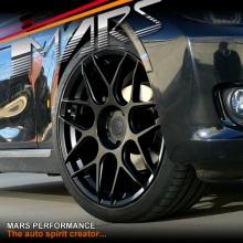 MARS MP-JW Matt Black 4x 19 Inch Concave Stag Alloy Wheels Rims 5x112